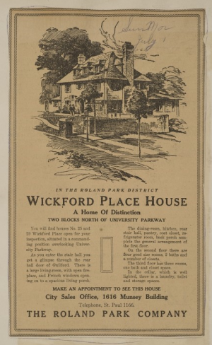 Roland Park Company Papers - Vintage Ad