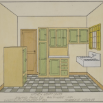 Roland Park Company Papers - Kitchen Rendering
