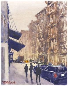 New York City Street Scene, Kevin Campbell White, 2004